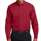 Cardinal Twill Button Down Long Sleeve-Select-A-Logo