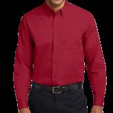 Cardinal Twill Button Down Long Sleeve-Select-A-Logo