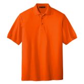 Orange Easycare Pique Polo-Select-A-Logo