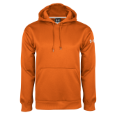 Under Armour Orange Performance Sweats Team Hood-Select-A-Logo