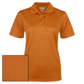Ladies Orange Dry Mesh Polo-Select-A-Logo
