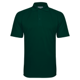 Dark Green Textured Saddle Shoulder Polo-Select-A-Logo
