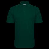 Dark Green Textured Saddle Shoulder Polo-Select-A-Logo