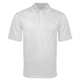 White Mini Stripe Polo-Select-A-Logo