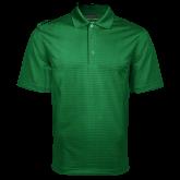 Dark Green Mini Stripe Polo-Select-A-Logo