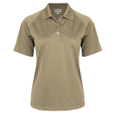 Ladies Vegas Gold Textured Saddle Shoulder Polo-Select A Club Sport
