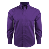 Red House Purple Long Sleeve Shirt-Select-A-Logo