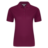 Ladies Easycare Maroon Pique Polo-Select-A-Logo