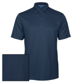 Navy Performance Fine Jacquard Polo-Select-A-Logo