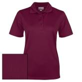 Ladies Maroon Dry Mesh Polo-Select-A-Logo