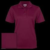 Ladies Maroon Dry Mesh Polo-Select-A-Logo