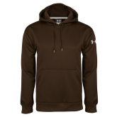 Under Armour Brown Performance Sweats Team Hoodie-Select-A-Logo
