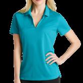 Ladies Nike Golf Dri Fit Teal Micro Pique Polo-Select-A-Logo