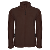 Fleece Full Zip Brown Jacket-Select-A-Logo