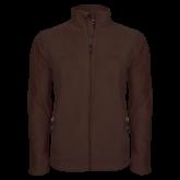 Fleece Full Zip Brown Jacket-Select-A-Logo