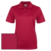 Ladies Cardinal Dry Mesh Polo-Select-A-Logo
