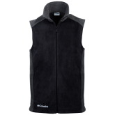 Columbia Full Zip Black Colorblocked Vest-Select-A-Logo