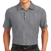 Nike Dri Fit Charcoal Embossed Polo-Select-A-Logo