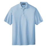Light Blue Easycare Pique Polo-Select-A-Logo