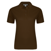 Ladies Easycare Brown Pique Polo-Select-A-Logo