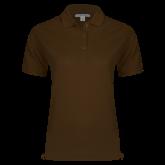 Ladies Easycare Brown Pique Polo-Select-A-Logo