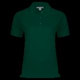 Ladies Easycare Dark Green Pique Polo-Select-A-Logo
