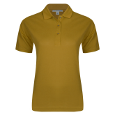 Ladies Easycare Gold Pique Polo-Select-A-Logo