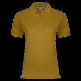 Ladies Easycare Gold Pique Polo-Select-A-Logo