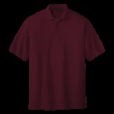 Maroon Easycare Pique Polo-Select-A-Logo
