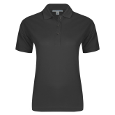 Ladies Easycare Charcoal Pique Polo-Select-A-Logo