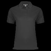 Ladies Easycare Charcoal Pique Polo-Select-A-Logo