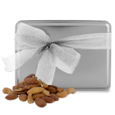 Deluxe Nut Medley Silver Large Tin-Select-A-Logo