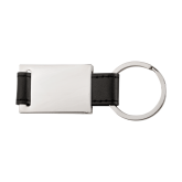 Black Leather Key Holder-Select-A-Logo