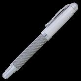 Carbon Fiber Silver Rollerball Pen-Select-A-Logo