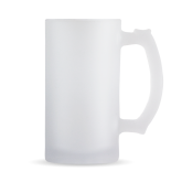 Full Color Decorative Frosted Glass Mug 16oz-Select-A-Logo
