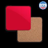 Hardboard Coaster w/Cork Backing-Select-A-Logo