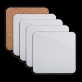 Hardboard Coaster w/Cork Backing 4/set-Select-A-Logo