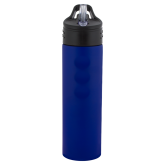 Stainless Steel Blue Grip Water Bottle 24oz-Select-A-Logo