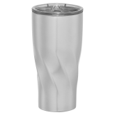 Mega Hugo Vacuum Insulated Silver Tumbler 30oz-Select-A-Logo