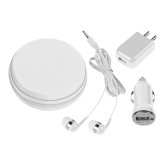 3 in 1 White Audio Travel Kit-Select-A-Station
