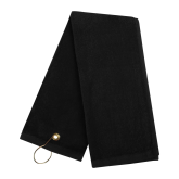 Black Golf Towel-Select-A-Logo