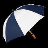 62 Inch Navy/White Vented Umbrella-Select-A-Logo