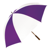 64 Inch Purple/White Umbrella-Select-A-Logo