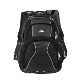 High Sierra Swerve Black Compu Backpack-Select-A-Logo