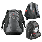 Wenger Swiss Army Tech Charcoal Compu Backpack-Select-A-Logo